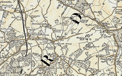 Old map of Datchworth Green in 1898-1899