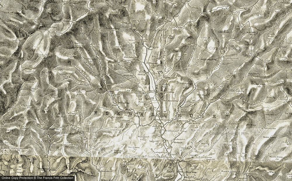 Old Map of Historic Map covering Ashy Bank in 1901-1904