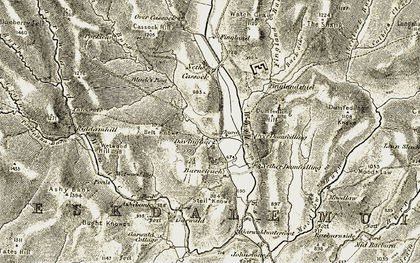 Old map of Wetwood Rig in 1901-1904