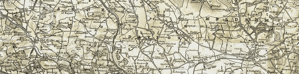 Old map of Whiteley in 1909-1910