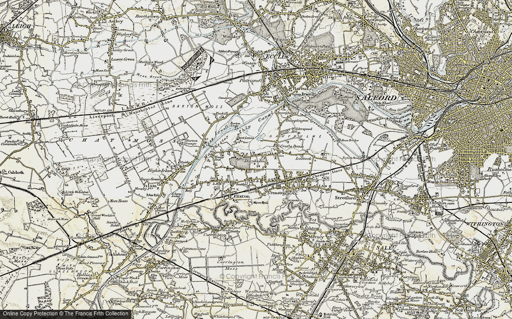 Old Map of Davyhulme, 1903 in 1903