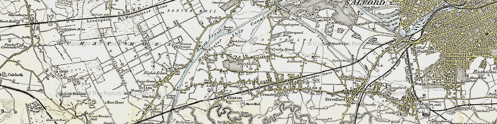 Old map of Davyhulme in 1903