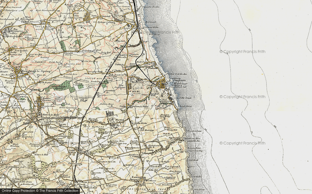 Old Map of Dawdon, 1901-1904 in 1901-1904