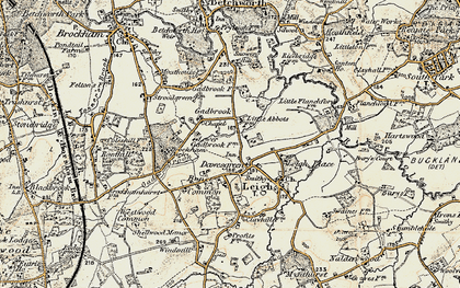 Old map of Leigh Place in 1898-1909