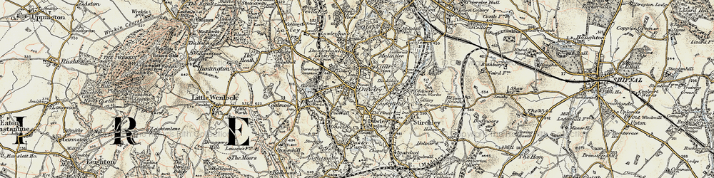 Old map of Dawley in 1902