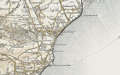 Old map of Dawlish in 1899