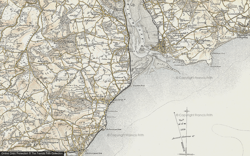 Old Map of Dawlish Warren, 1899 in 1899