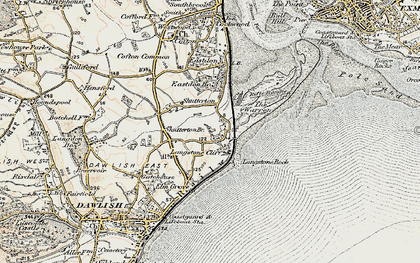 Old map of Langstone Rock in 1899