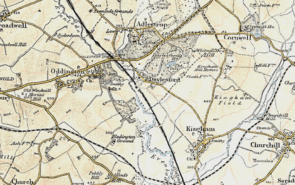 Old map of Daylesford in 1898-1899