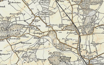 Old map of Appley Corner in 1898-1901