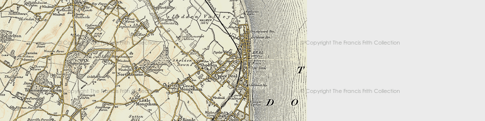 Old map of Deal in 1898-1899