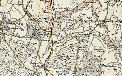 Old map of Idsworth in 1897-1899