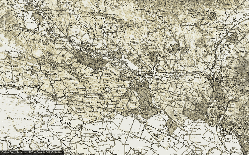 Old Map of Historic Map covering Bankhead in 1904-1907