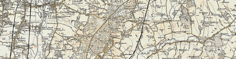 Old map of Woodbury Hollow in 1897-1898