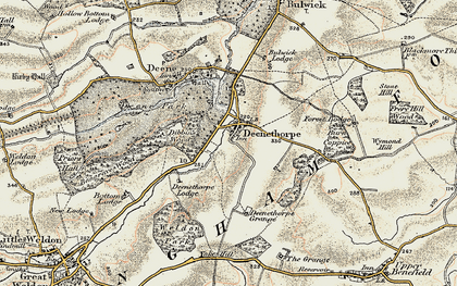 Old map of Yoke Hill in 1901-1902