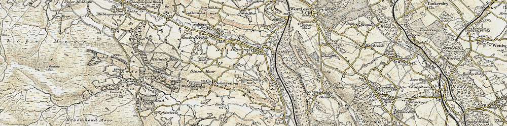 Old map of Allman Well Hill in 1903