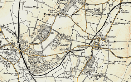 Old map of Deepdale in 1898-1901