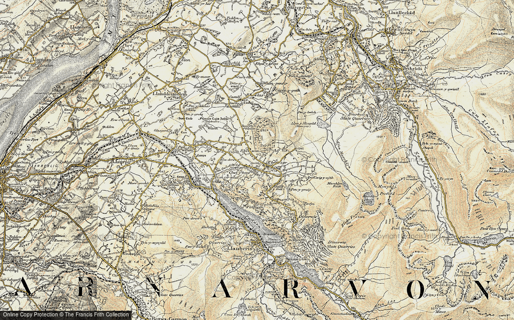 Old Map of Deiniolen, 1903-1910 in 1903-1910