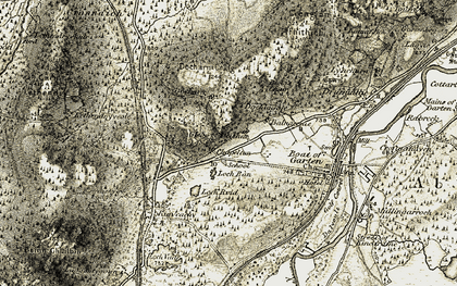 Old map of Deishar in 1908-1911