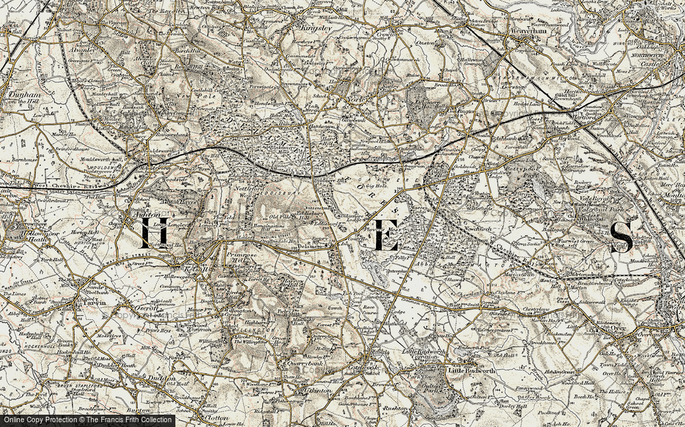 Old Map of Historic Map covering Abbeywood in 1902-1903