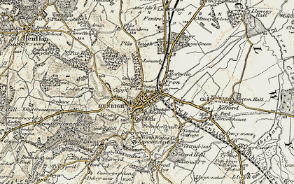 Old map of Denbigh in 1902-1903