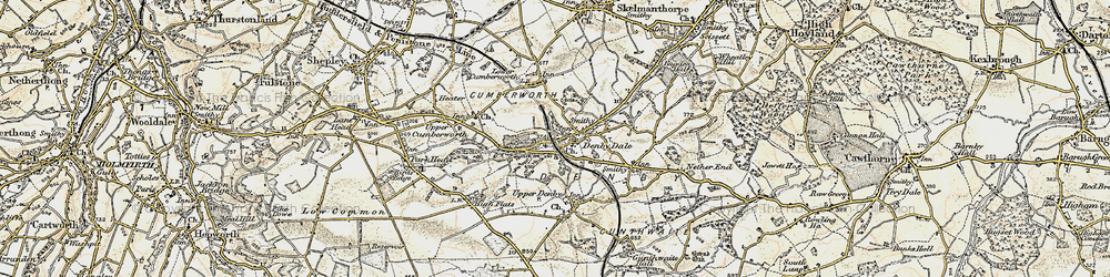 Old map of Denby Dale in 1903