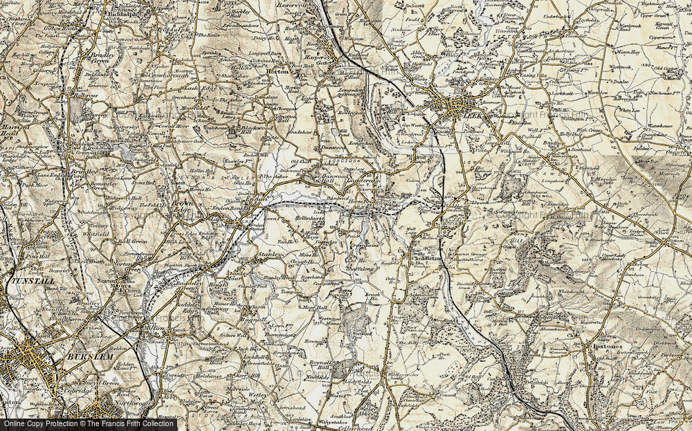 Old Map of Historic Map covering Bank End in 1902