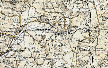 Old map of Bank End in 1902