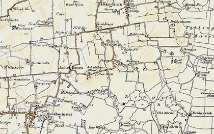 Old map of Bacons in 1898