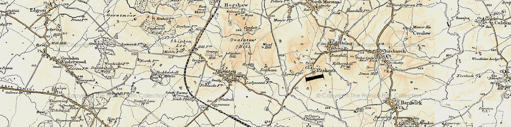 Old map of Woad Hill in 1898