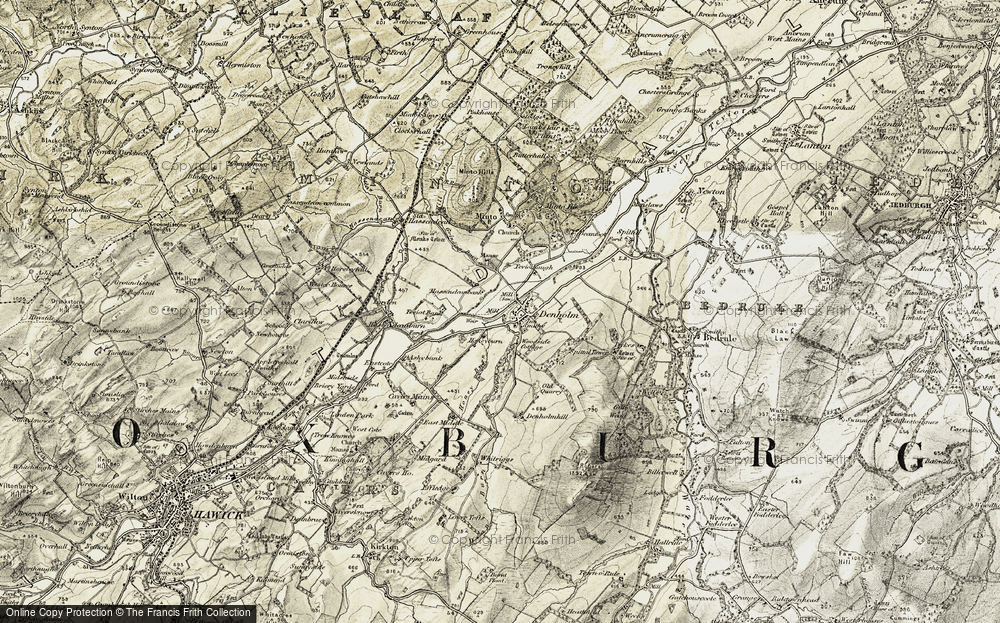 Old Map of Denholm, 1901-1904 in 1901-1904