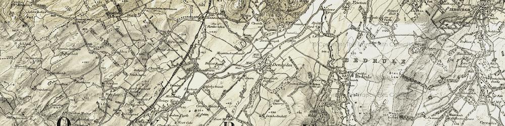 Old map of Denholm in 1901-1904