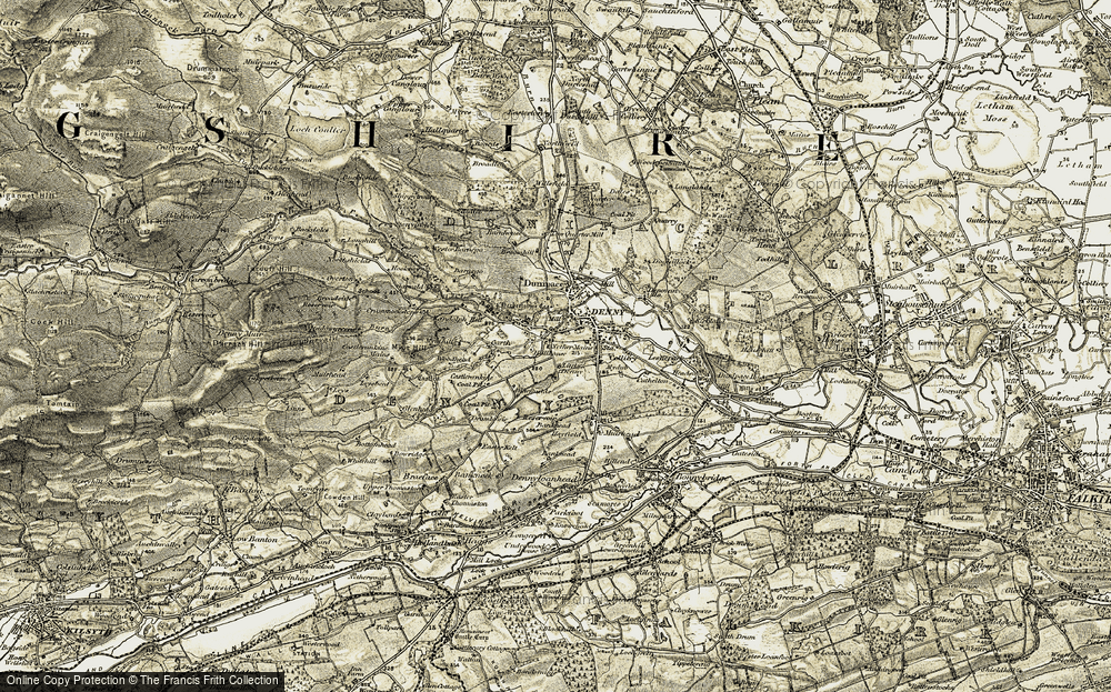 Old Map of Denny, 1904-1907 in 1904-1907