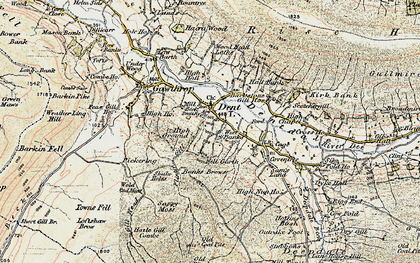 Old map of Backstonegill in 1903-1904