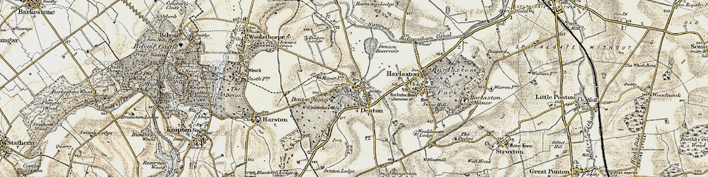 Old map of Denton in 1902-1903