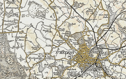Old map of Windle Hall in 1903