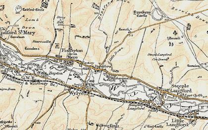 Old map of Yarnbury Castle in 1897-1899