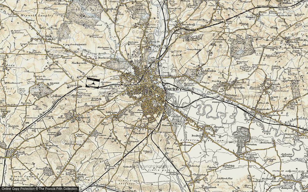Old Map of Derby, 1902-1903 in 1902-1903