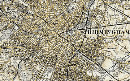 Old map of Deritend in 1902