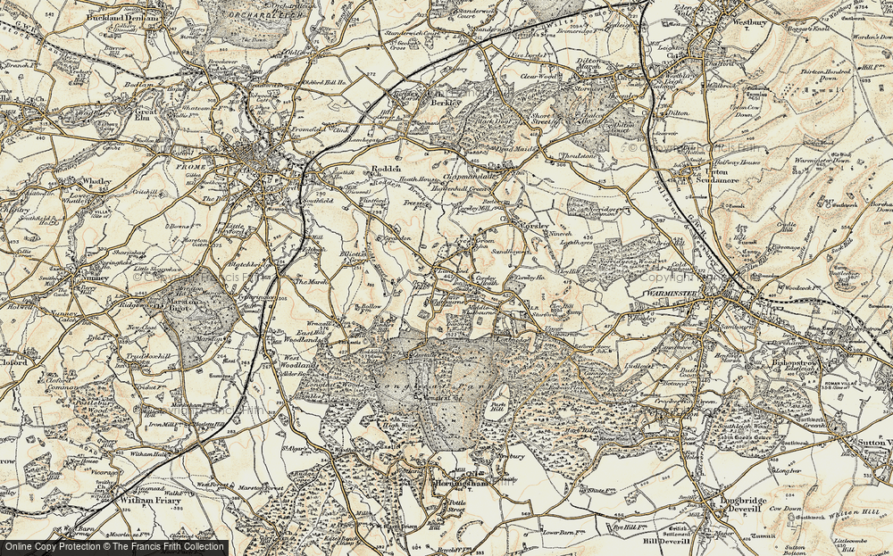 Old Map of Historic Map covering Timbers Hill in 1897-1899