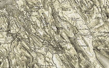 Old map of Aintuim in 1906-1908