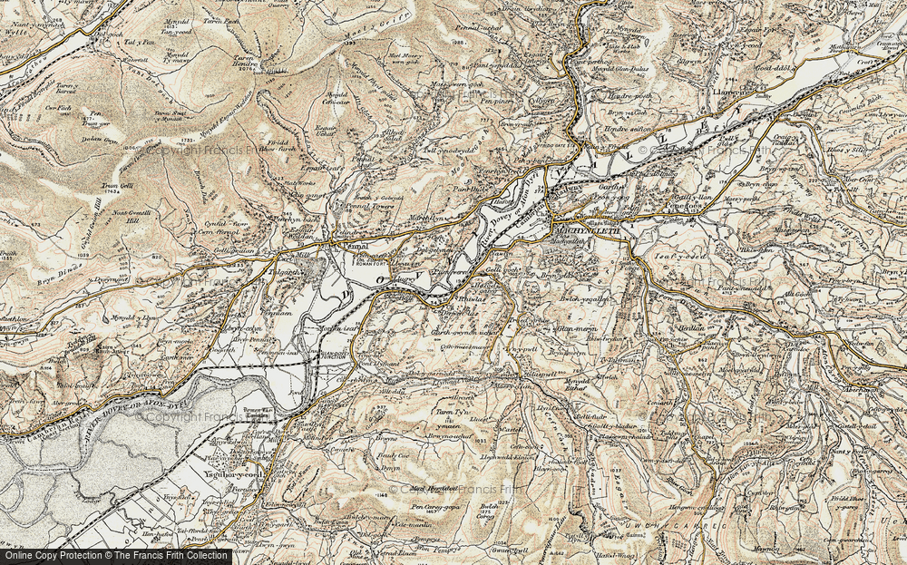 Old Map of Derwenlas, 1902-1903 in 1902-1903