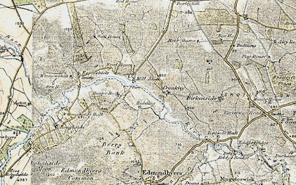 Old map of Winnowshill in 1901-1904