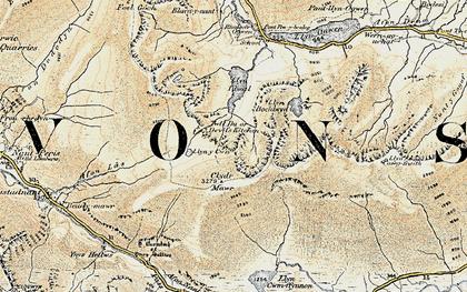 Old map of Y Gribin in 1903-1910