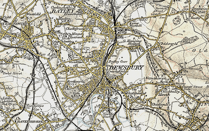 Old map of Dewsbury in 1903