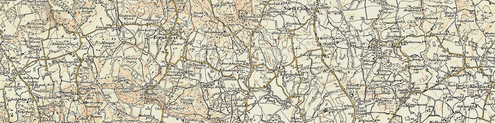 Old map of Windfallwood Common in 1897-1900