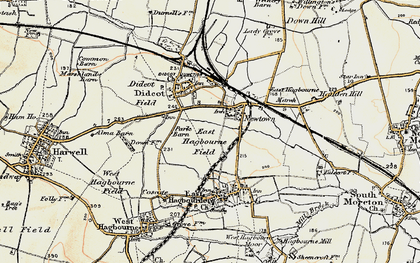 Old map of Didcot in 1897-1898