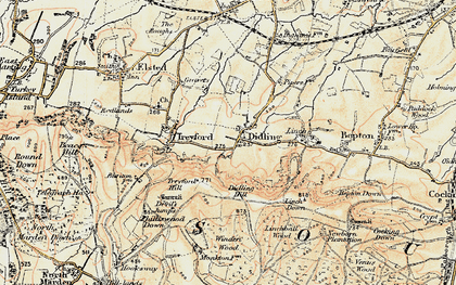 Old map of Linchball Wood in 1897-1900