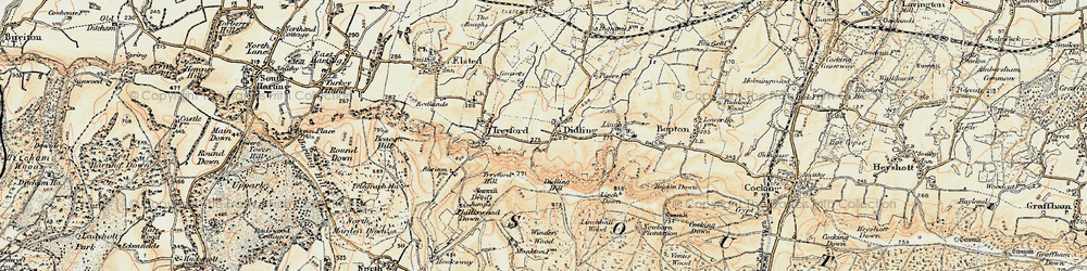 Old map of Winden Wood in 1897-1900