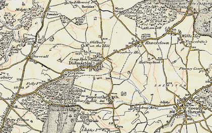 Old map of Didmarton in 1898-1899